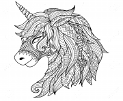 Coloriage licorne tattoo adulte