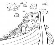 la belle fille raiponce dessin à colorier