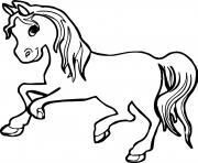 cheval pour fille dessin à colorier