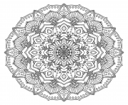 Coloriage intricate black mandala