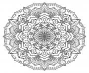 intricate black mandala dessin à colorier