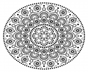 mandala design points dessin à colorier