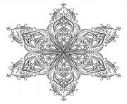 mandala forme etoile dessin à colorier