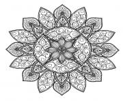 mandala forme geometrique dessin à colorier