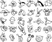animaux de la ferme dessin à colorier