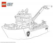 Lego City Fire Boat dessin à colorier
