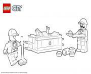 Lego City Garbage Truck dessin à colorier