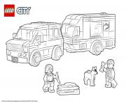 Coloriage Lego City Van and Caravan