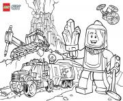 Coloriage Lego City Volcano Explorers