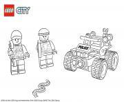 Lego City ATV Patrol Police dessin à colorier