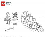 Lego City Swamp Police Starter Set dessin à colorier