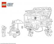 Lego City Fire Station dessin à colorier