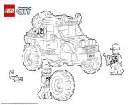 Coloriage Lego City 4x4 Off Roader