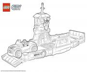 Coloriage Lego City Boat Transport Ferry