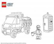 Coloriage Lego City Service Truck
