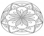 intricate oeuf de paques dessin à colorier