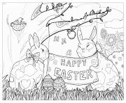 Coloriage easter egg oeuf paque dessin