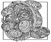 Coloriage oeuf et lapin de paques adulte dessin