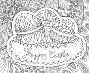 Coloriage adulte paques pattern easter