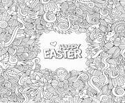 wt2 doodle paques par olga_kostenko dessin à colorier