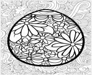 oeuf de paques pour adulte dessin à colorier
