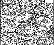 Coloriage easter egg oeuf paque adulte dessin
