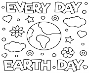 Coloriage jour de la terre everyday earth day