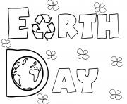 Coloriage jour de la terre 22 avril dessin