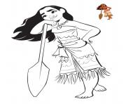 Coloriage vaiana moana et Maui disney dessin