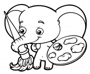 Coloriage Bebe Elephant.Coloriage Elephant A Imprimer Gratuit Sur Coloriage Info