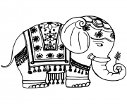 Coloriage elephant bollywood
