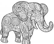 elephant pour adulte animaux dessin à colorier