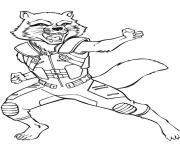 avengers endgame rocket kung fu les gardiens de la galaxie dessin à colorier