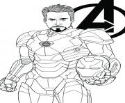 Coloriage avengers endgame iron man tony stark