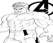 Coloriage avengers endgame the hulk