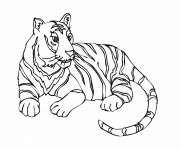 Coloriage tigre adulte animal dessin