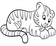 tigre bebe pour enfants dessin à colorier