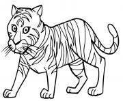 cartoon cute tigre dessin à colorier