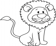 Coloriage lion cartoon
