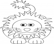 cartoon lion dessin à colorier