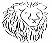 Coloriage lion tattoo