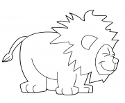 joyful lion dessin à colorier