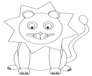 Coloriage cartoon lion