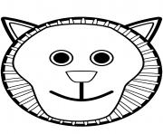 tete de lion mask visage dessin à colorier