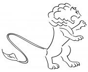 lion frustre logo dessin à colorier