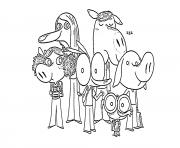 ariol ane bleu et ses amis dessin à colorier