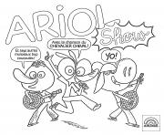 Ariol fait son show dessin à colorier