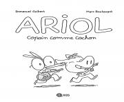 Ariol copain comme cochon dessin à colorier