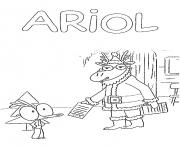 ariol et le pere noel dessin à colorier