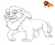le roi lion disney dessin à colorier